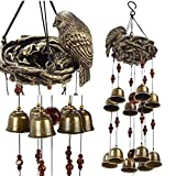 Ylyycc® New birds and nest wind chime 12pieces bells wind chime bronze color Review