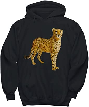 Cool Cheetah Leopard Pullover Hooded Sweatshirts for Boys Mens Funny Cool Outwear