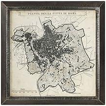 Uttermost City Plan of Rome Print Map 41494