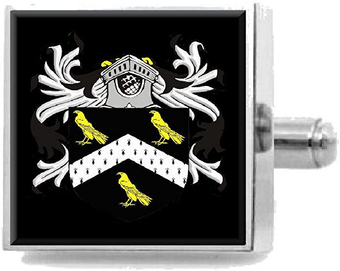 Select Gifts Rigby England Heraldry Crest Sterling Silver Cufflinks Engraved Message Box
