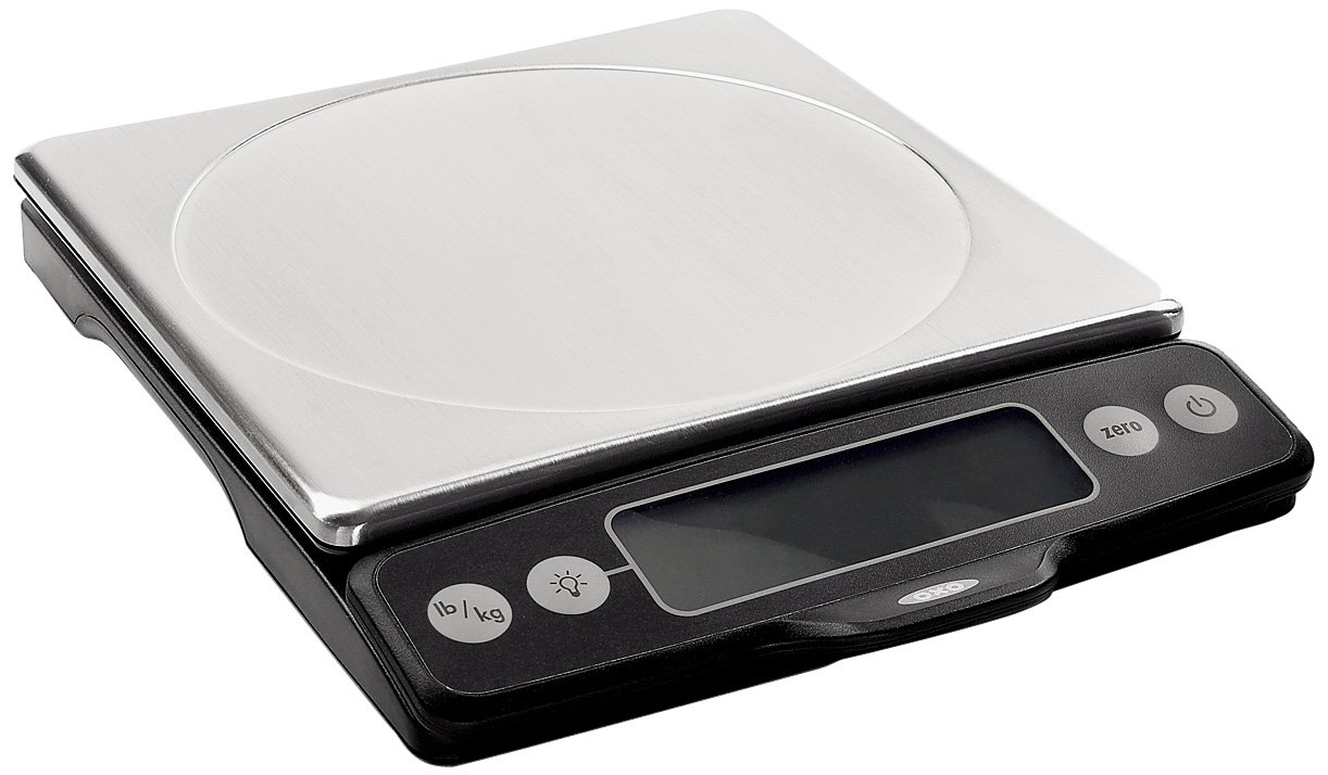 OXO Good Grips Stainless Steel Food Scale with Pull-Out Display, 11-Pound by OXO