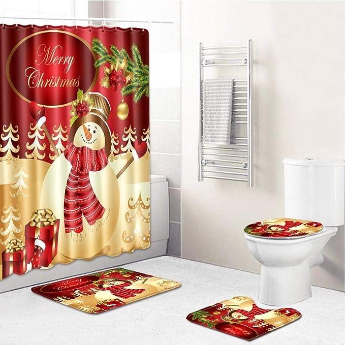 S-tubit Conjuntos de Cortinas de baño Juego de alfombras de baño 4 ...