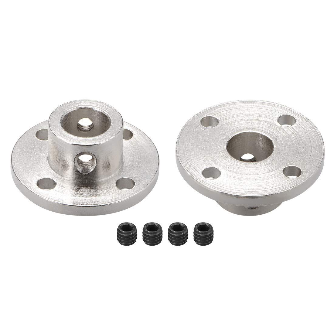 uxcell 6mm Inner Dia H15D15 Rigid Flange Coupling Motor Guide Shaft Coupler Motor Connector for DIY Parts