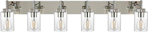 VINLUZ Bathroom Vanity Light Chrome Finished Vintage Wall Lighting Fixtures