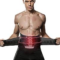 BINLY Lumbar para la Espalda, Soporte Lumbar para Aliviar el Dolor y Lesiones Cinturon Lumbar Prevenir Daños Faja Lumbar para la Espalda para Hombres Mujer con Tirantes