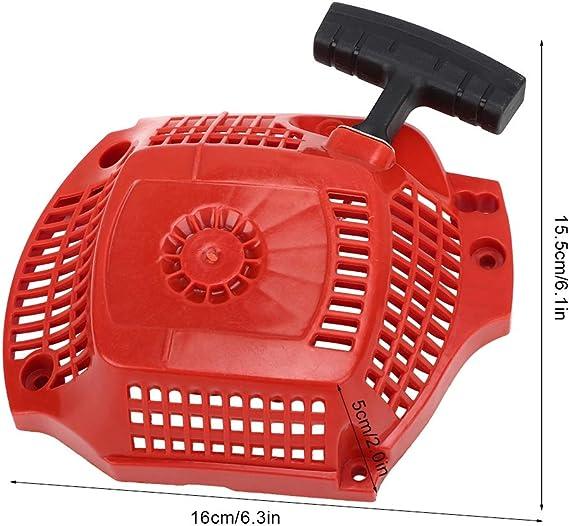 WOXIWANNI Arrancador de retroceso para motosierra f/ácil de arrancar para motosierra piezas de sierra 1 pieza de 38 CC para motosierra arranque y arranque