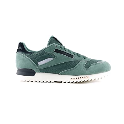 ce5d3ac4601c04 Reebok CL Leather Ripple S - BS9788 - Color Green - Size  9.5   Amazon.co.uk  Shoes   Bags