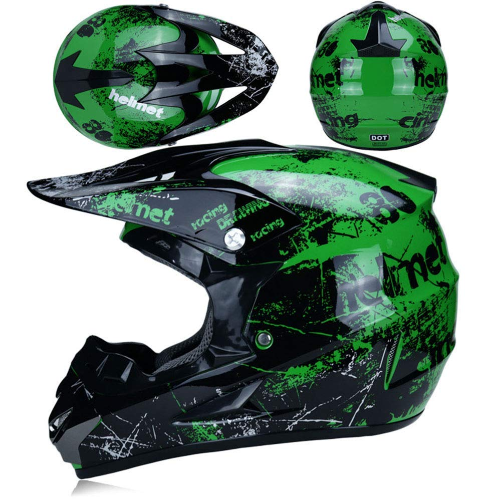 7 style NMBE Adult Off Road Helmet DOT Dirt Bike Motocross ATV Motorcycle Offroad//Off-road goggles//storm Mask//Riding Gloves