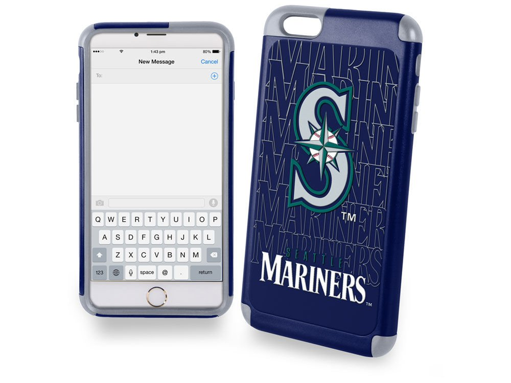 MLB Seattle Mariners Tpuデュアルハイブリッドai6カバー2ピース、大、グリーン   B00SCHO1AS
