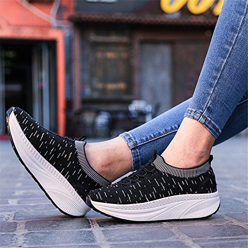 per il Scarpe SHINIK Casual Sneakers sportive morbide quotidiano da Aumentare Scarpe Scarpe donna l'altezza UN Antiscivolo Slip corsa Fitness Outdoor da On WHgarTWx
