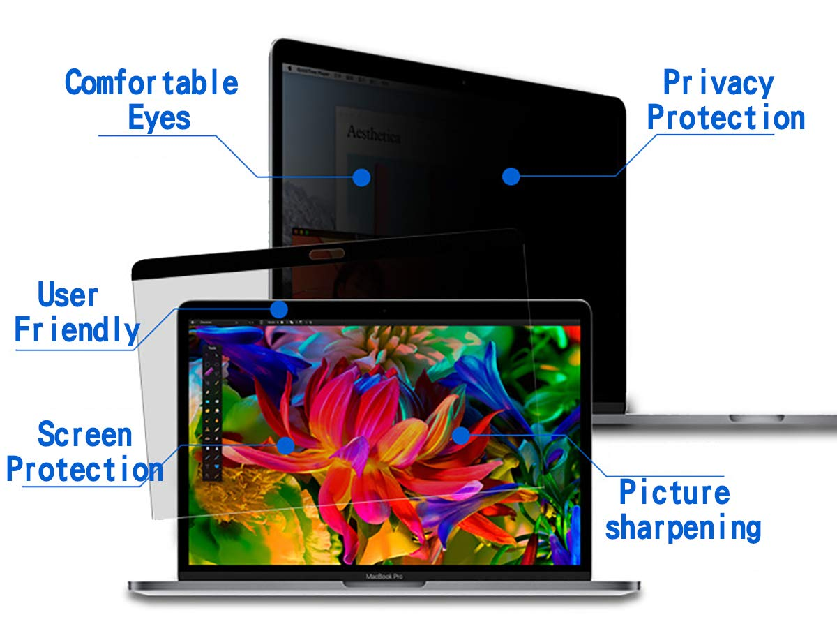 CNF CO Magnetic Privacy Screen Filters Protector for MacBook Air 13.3 inch Model: A1369, A1466 Anti-Glare Ant-Scratch Anti-Peeping