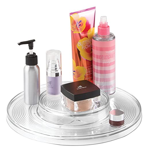 Amazon.com: mDesign Spinning Turntable Cosmetic Organizer for Vanity Cabinet to Hold Makeup, Beauty Products - 9