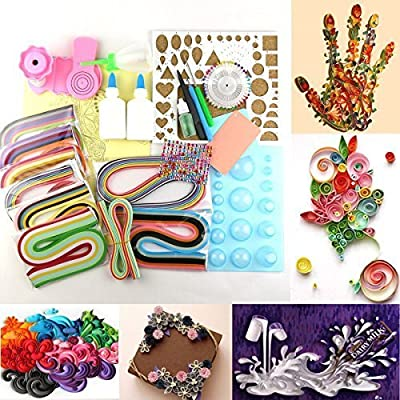 LEMO 1380 Strips Paper Quilling DIY Craft Kit Board Mould Crimper Comb Tools Kit TO314
