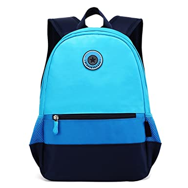 8b111d53db4b Amazon.com   AnKoee School Backpack Stitching Color Girls Boys ...
