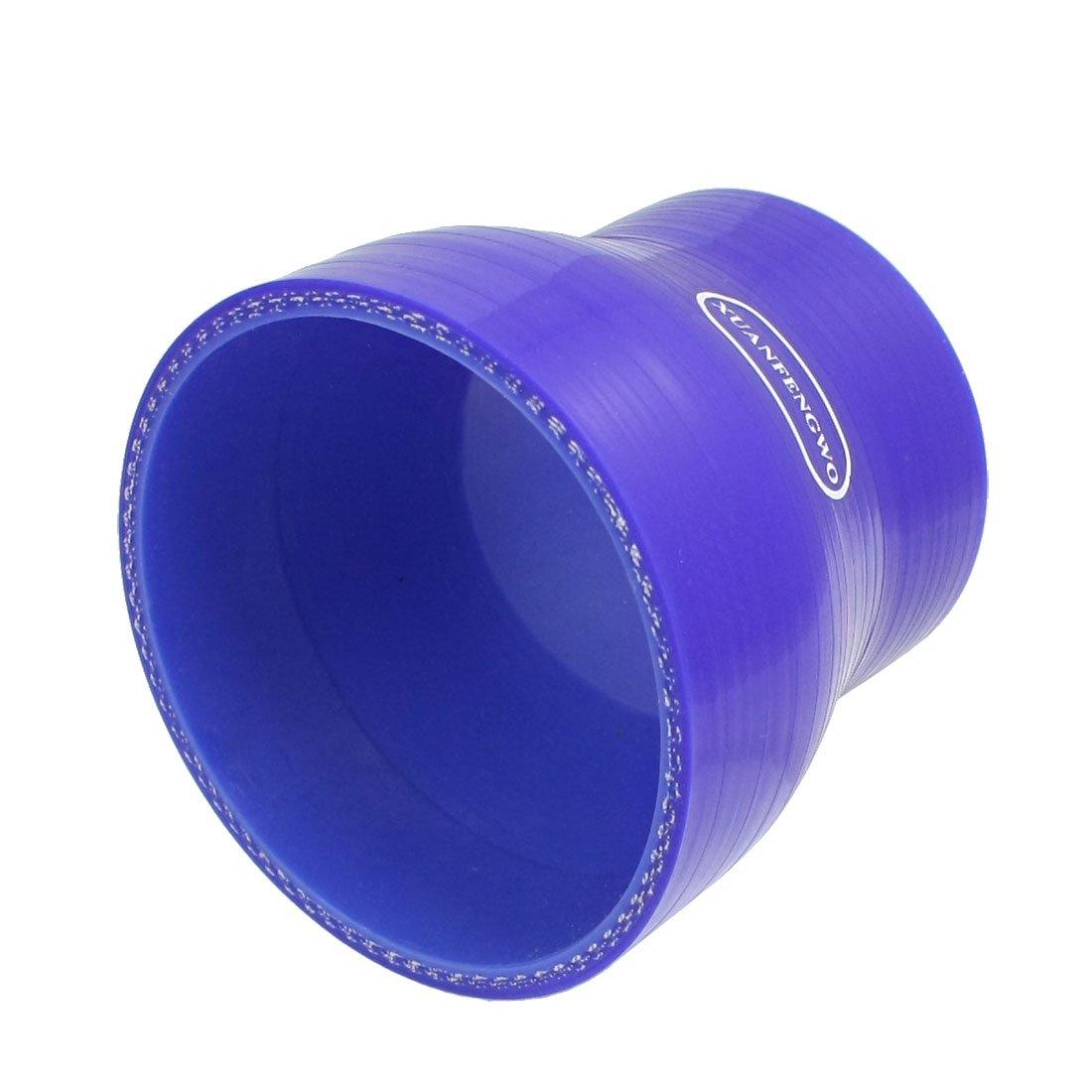 64mm pour 80mm Droit Turbo Ré ducteur Tuyau Silicone Coupleur Bleu sourcingmap a13012900ux0436