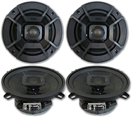 "2 NEW 5.25/"" Car Audio Speakers.Stereo Pair.5-1//4/"" Door Replacement.4ohm.Coax"