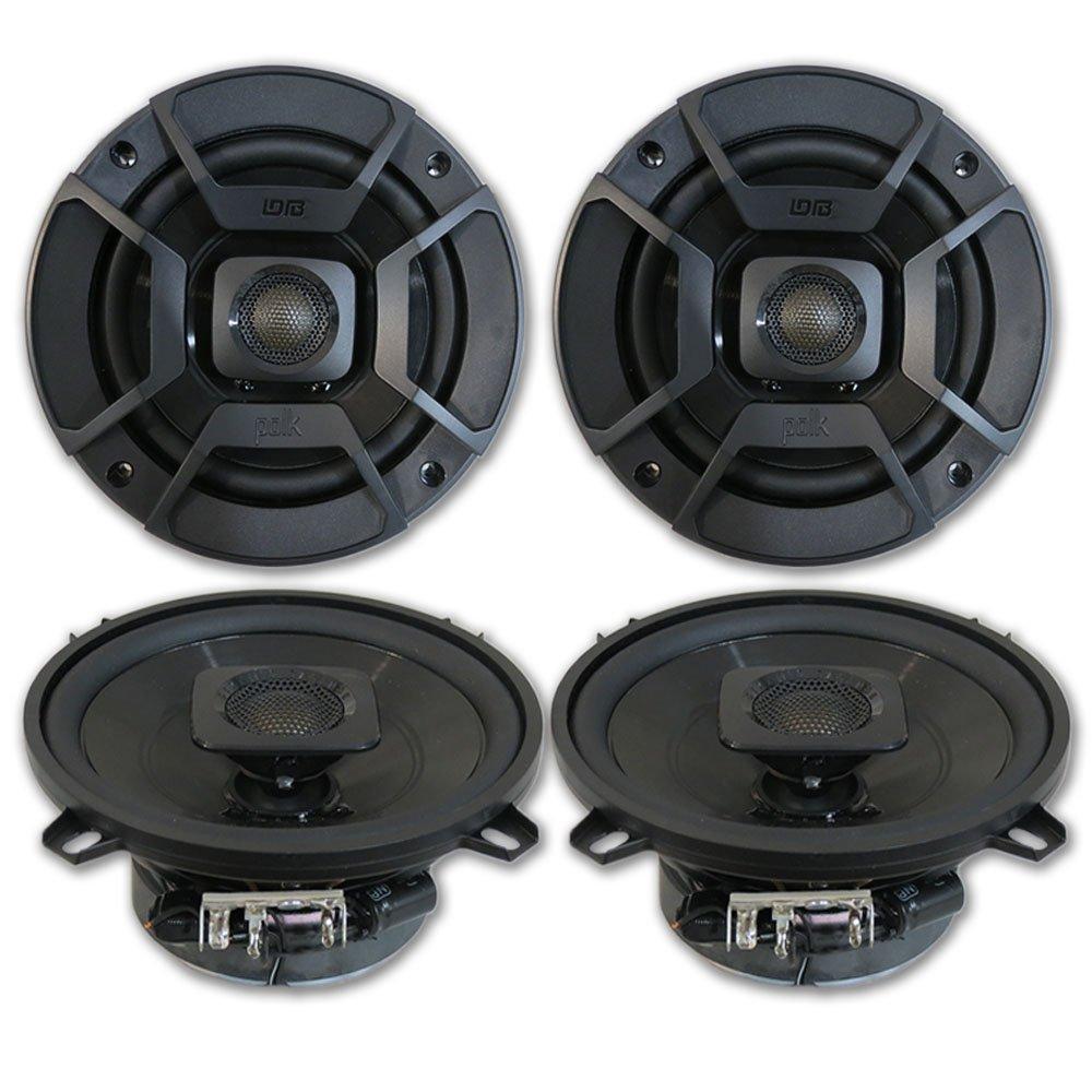 4 X Polk Audio 525 2 Way Car Boat Marine Atv Utv Kacm3004 Channel 600w Amp Amplifier With Wiring Kit Coaxial Speakers 5 1 Electronics