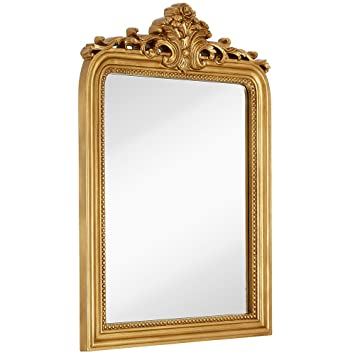 Amazoncom Hamilton Hills Top Gold Baroque Wall Mirror Rich Old - Unique-wall-mirrors-from-opulent-items
