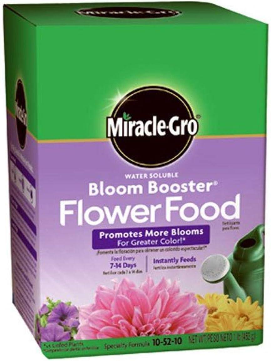 Miracle-Gro Water Soluble Bloom Booster Flower Food, 10-52-10