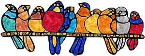 wujomeas Window Clings, Sticker Decals,Window Stickers Bird Sticker,Window Decals for Birds | Anti Collision Window Stickers Decor | Decorative Bird Window Decals for Sliding Glass Doors