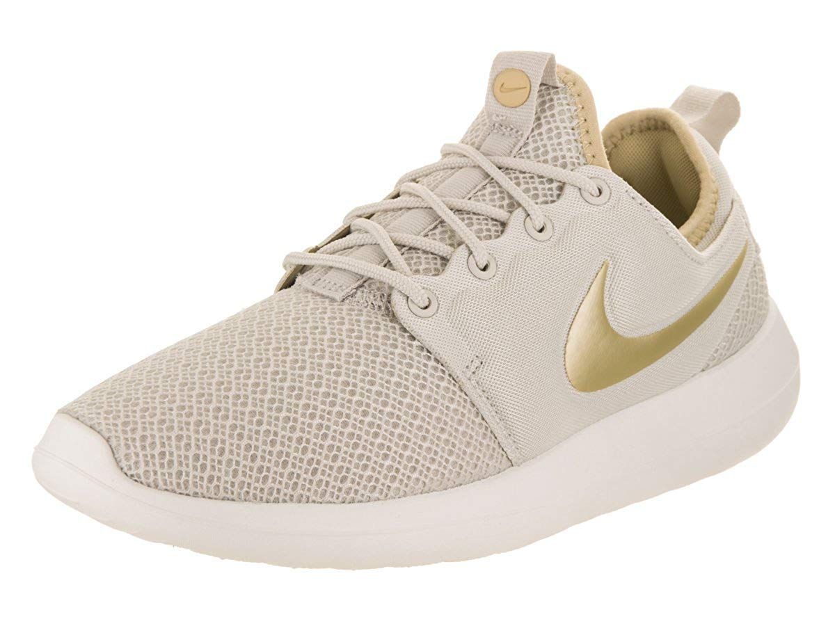 new style c2b1e 25103 Galleon - NIKE Womens Roshe Two Low Top Lace Up Running Sneaker, Beige,  Size 8.5