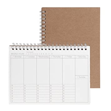 Planner Book Monthly Weekly Daily Agenda Schedule Blank ...
