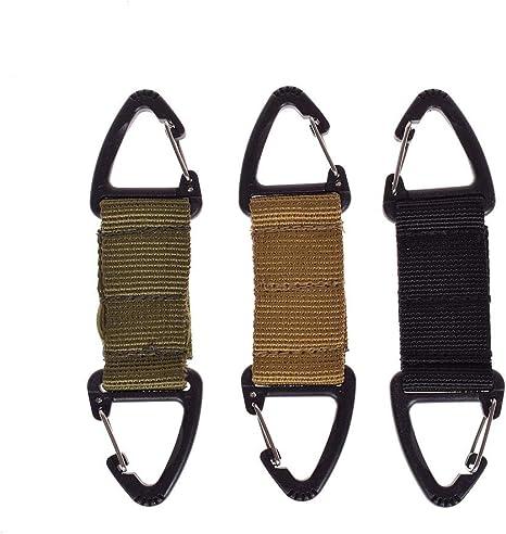 Molle Military Tactical Nylon Webbing Clip Belt Key Strap Carabiner Buckle S4V3