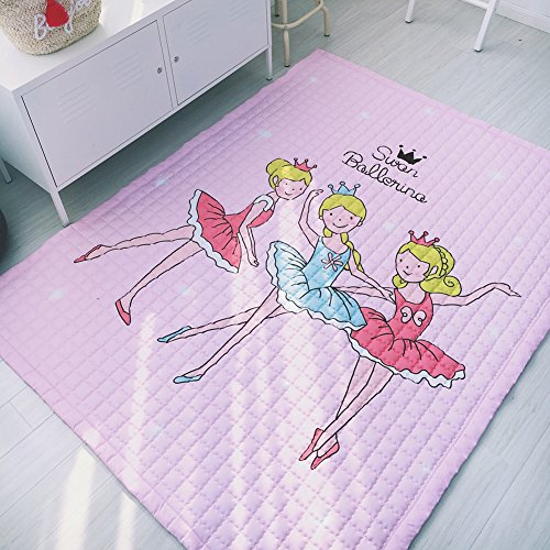 Cartoon Cotton Rugs for Children - Anti-slip Rugs Baby Crawling/Game/Leisure Rugs Thicken Design Dance 59 X 79 Inch by Sport Do