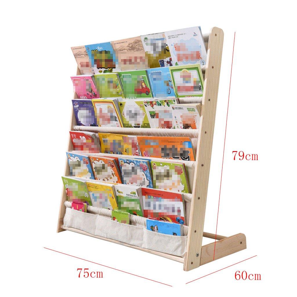 Mobiletti credenze Librerie Scaffale per bambini in legno massello semplice scuola materna pupilla salva spazio multifunzionale scaffale per bambino scaffale per bambini scaffale per libri