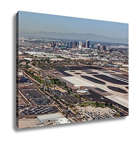 Ashley Canvas, Downtown Phoenix Arizona Skyline From Above Sky Harbor International Airport, 24x30, - Sky Harbor Airport Arizona In Phoenix