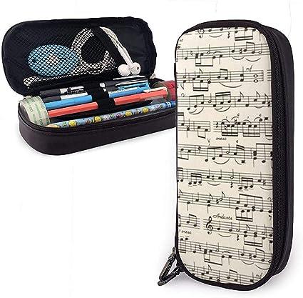Estuche de lápices de partituras, bolsa de maquillaje de gran capacidad: Amazon.es: Oficina y papelería