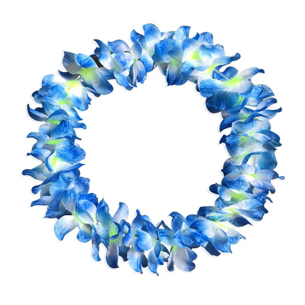 Hawaiian Plumeria Tribal Flower Hair Clip or Pick BLUE Wedding Luau Bridal Beach