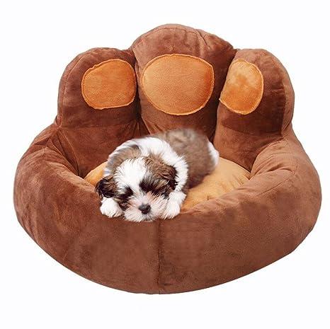 WYXIN Pata de oso en forma de cama para mascotas Impermeable a prueba de humedad resistente al desgaste Sillón de perro transpirable Nido de gato ...