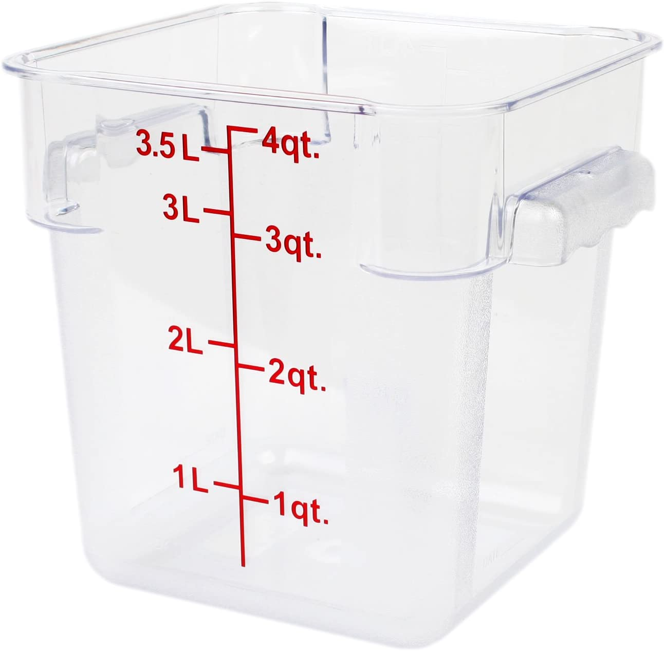 Excellante 4-Quart Polycarbonate Square Food Storage Containers, Clear