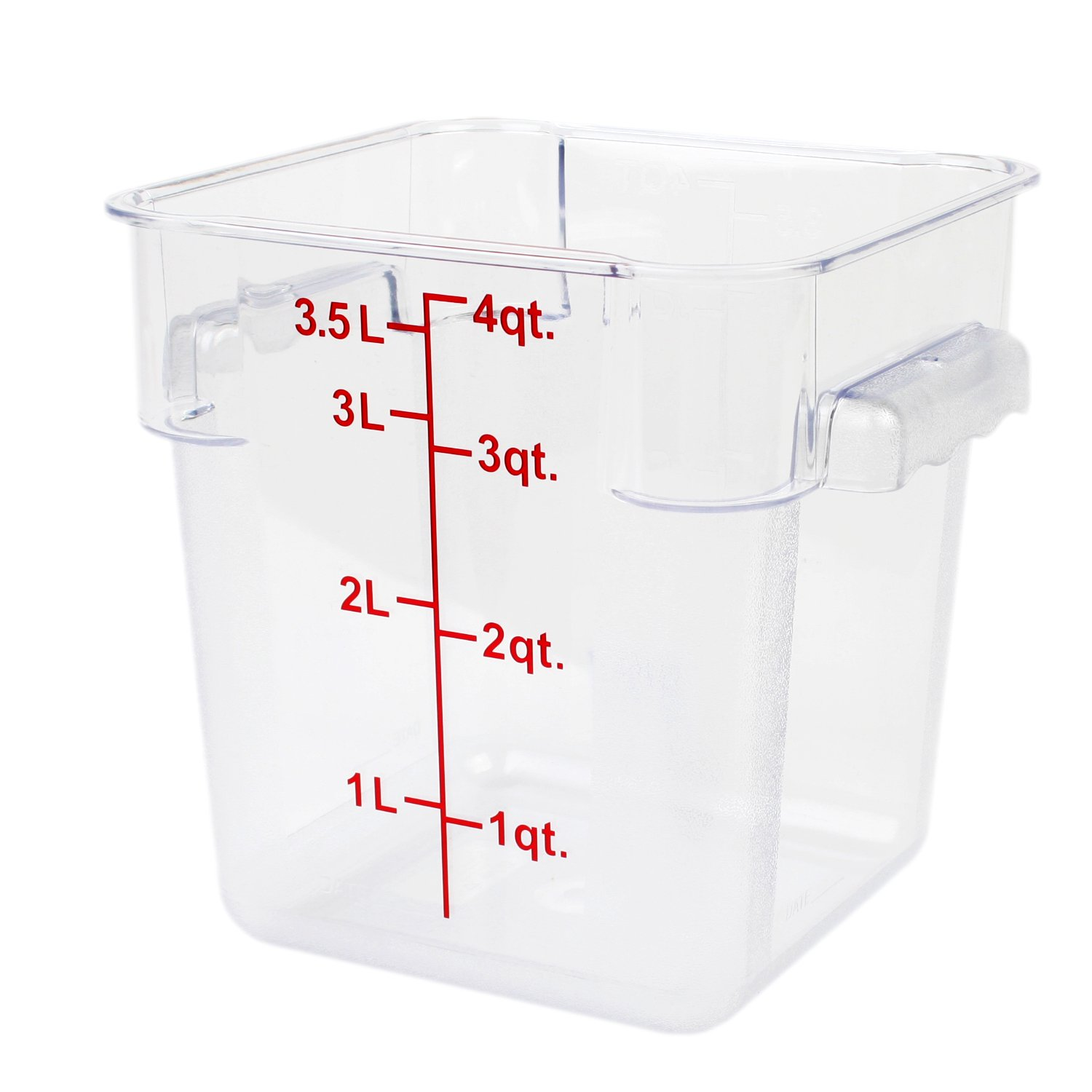 Excellante 4-Quart Polycarbonate Square Food Storage Containers, Clear by Excellant (Image #1)