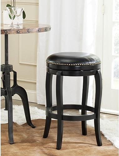 Safavieh Home Collection Nuncio Black 29-inch Bar Stool