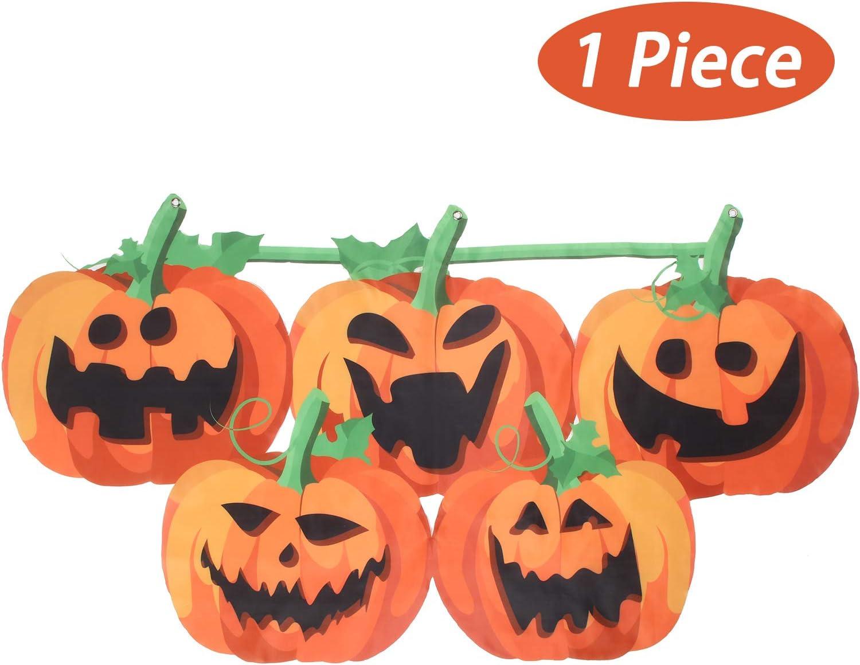 Amazon Com Halloween Pumpkin Bunting 59 Inches Pumpkin Bunting