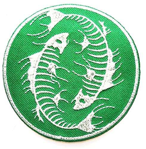 Nipitshop Patches Beautiful Green Japanese koi carp