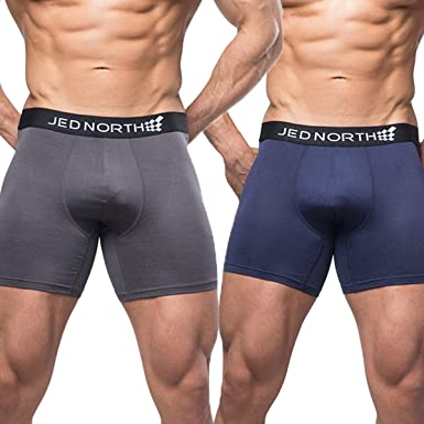 fdec6649c8 Amazon.com  Jed North Men s 2-Pack Athletic Performance Boxer Brief  Underwear for Gym and Workout  Clothing