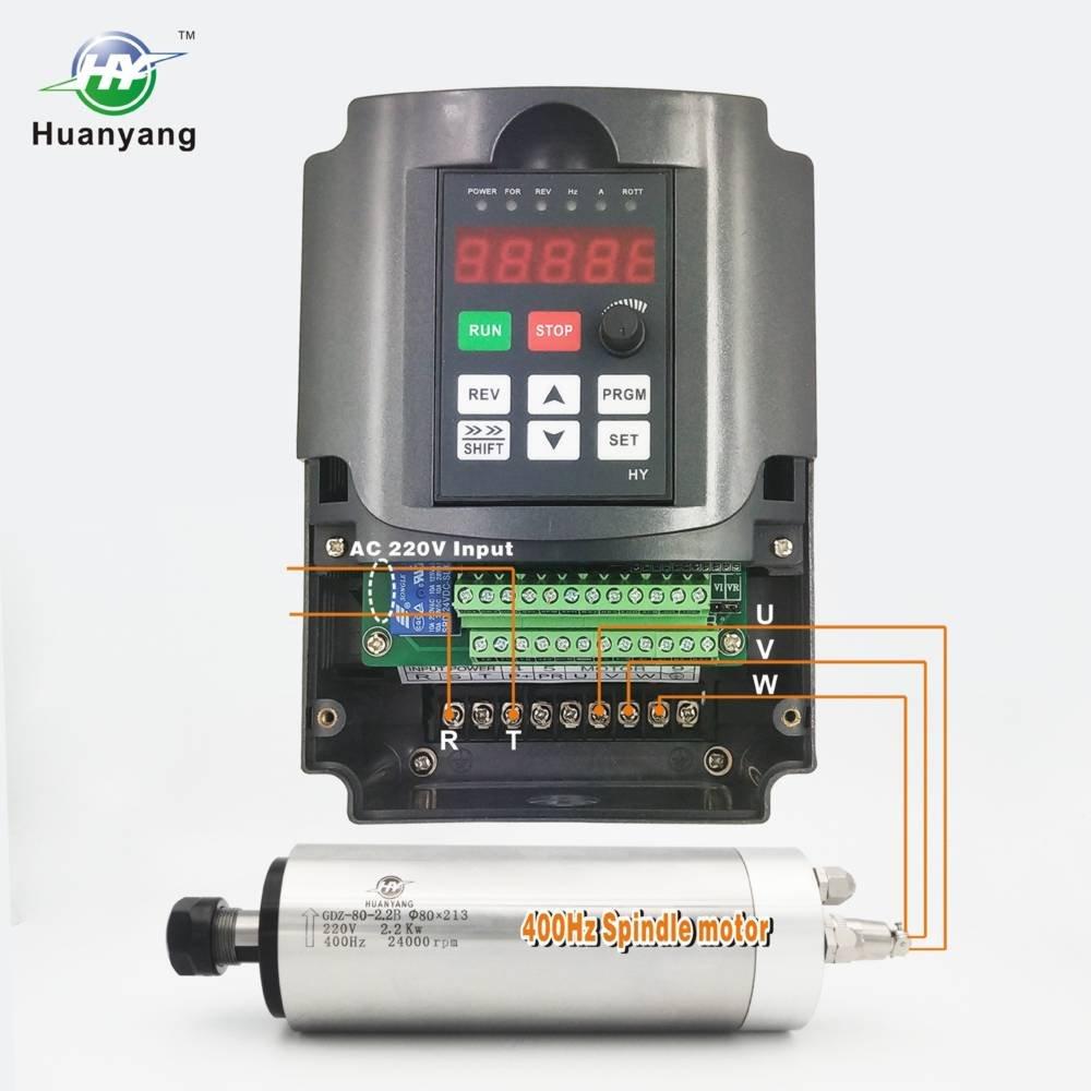 VFD Frequenzumrichter ,Computerized Numerical Control ,der Motor Inverter Konverter,f/ür Spindelmotor,Kontrolle der Geschwindigkeit,Huanyang HY Serie CNC 380V//1.5KW