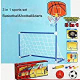 Osave Boys and Girls Basketball Hoop and Soccer Goal Sports Set Sports Toys for Kids
