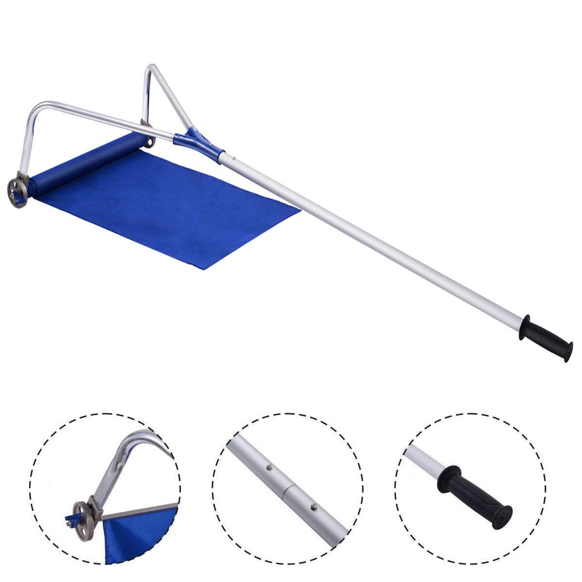 Lightweight Roof Rake Snow Removal Tool 20FT Adjustable Telescoping Handle by Sanny