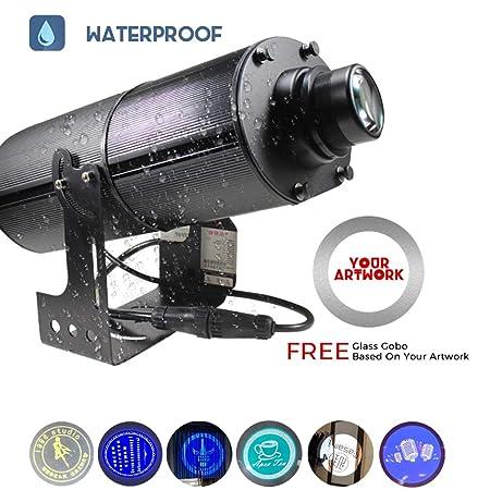 200W LED Logo GOBO Proyector Luz Exterior IP65 Resistente Al Agua ...