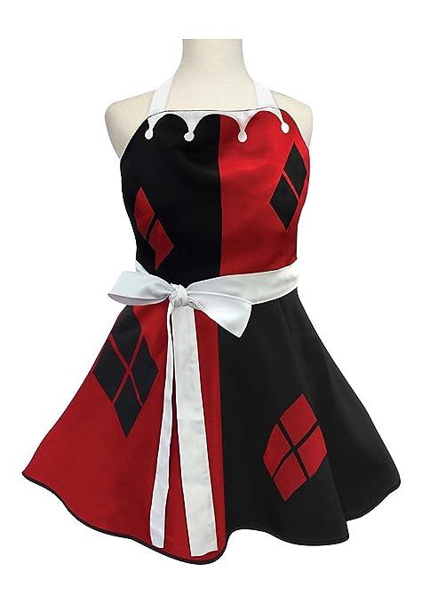Amazon.com: Para mujer Harley Quinn Fashion delantal ...