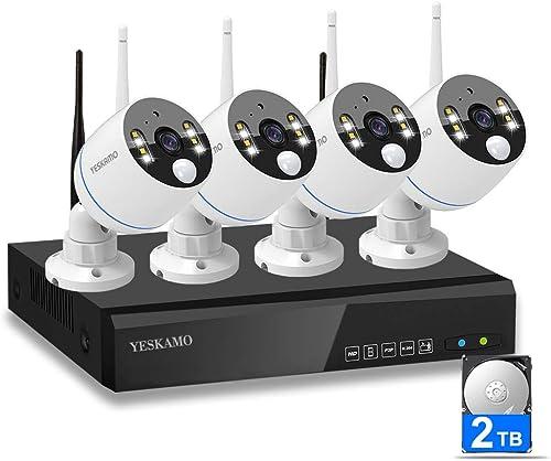 YESKAMO Security Camera System Wirele