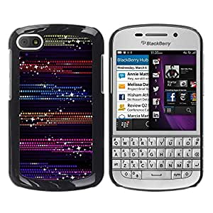 Be Good Phone Accessory // Dura Cáscara cubierta Protectora Caso Carcasa Funda de Protección para BlackBerry Q10 // Dots Glitter Purple Black