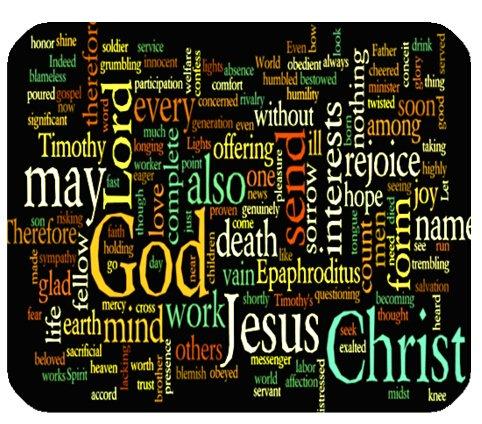 Online Designs Bible Philippians Jesus Christ Christian Cross Green Rectangle mouse pad mousepad 9.84″x7.87″