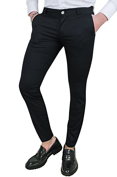Fit Eleganti In Pantaloni Battistini Casual Cotone Uomo Nero Slim txhrQsdCB