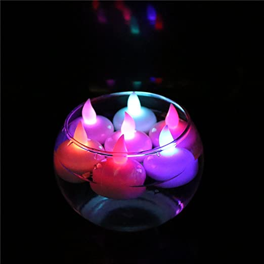 ARDUX - Velas LED flotantes, 12 Unidades, sin Llama, Impermeable, Flotante, Vela, decoración para Fiesta, Boda, cumpleaños, Navidad, decoración de ...