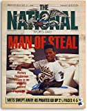 Rickey Henderson Oakland Athletics Autographed The National Newspaper from September 21, 1990 - Certified Authentic Signature